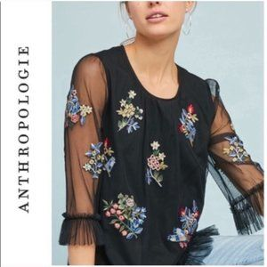 Anthropologie Ranna Gill daria embroidered blouse